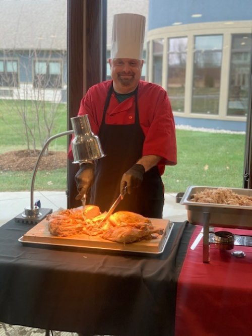 Everyone loved the Turkey at our Christmas Eve family meal served up by our very own Matt.