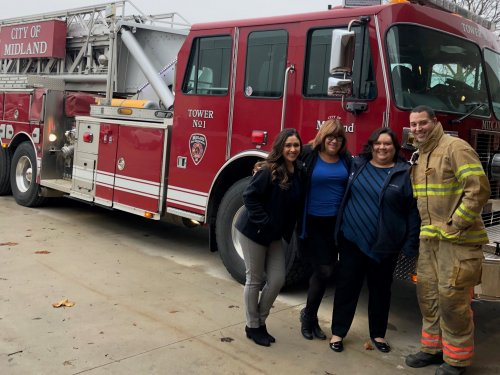 Primrose of Midland stopped in to thank the first responders/fire fighters with goodies for their commitment and service to our community.