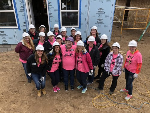 As part of our all staff training prior to opening we volunteered for Habitat for Humanity's Women's Build.  This is a partnership we plan to be part of for many years to come.  This was a great way for our new staff to get to know each other and learn some new skills.