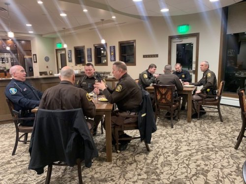 Today is Law Enforcement Appreciation so our local Midland City Police and the Sheriffs Department stopped in for Breakfast this morning.  We so appreciate our first responders!