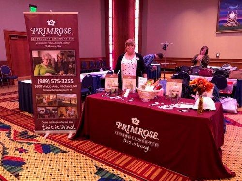 Sales Director Jane Johnson set up at the Senior Health Fair in Mt. Pleasant