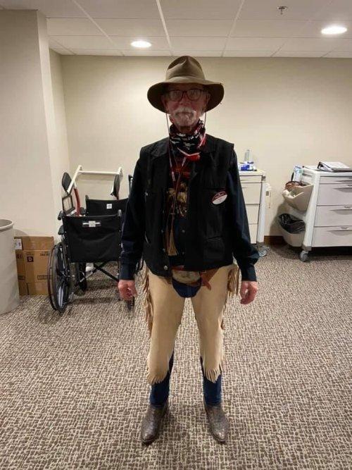 Cowboy/Nurse Tom takes the cake on Western day!