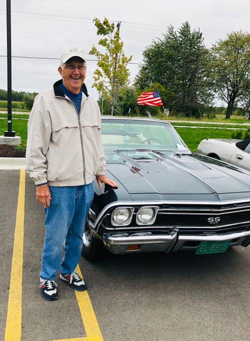 Our resident enjoyed sharing his 69 Chevel at our first annual car show.