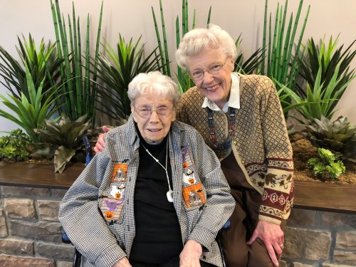 Friends since the age of 14!  At 97 & 98 these ladies spent the weekend catching up, laughing and just having a good time.  Thanks to our guest suite Mary was able to stay right at the community while visiting from out of town for the weekend.