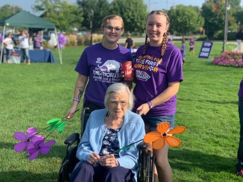 Many of our staff members volunteered their morning to come to the walk and help the residents be part of the experience.
