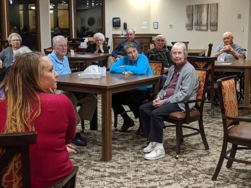 Residents getting a chance to know our nursing staff and ask them questions at our recent Meet the nurses event.