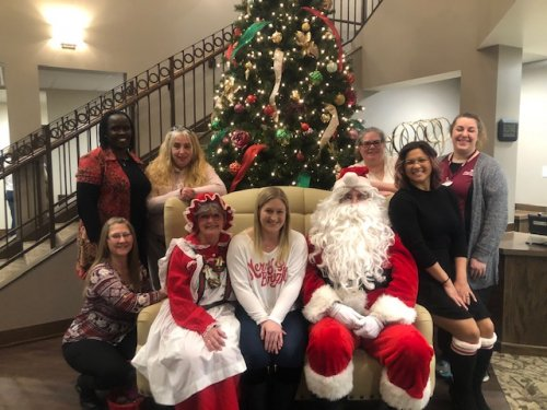 Thank you to all of our wonderful staff members that were able to join us for the resident and family Christmas party!