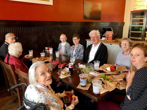 Lunch Bunch at the Honey Baked Ham Restaurant and Store