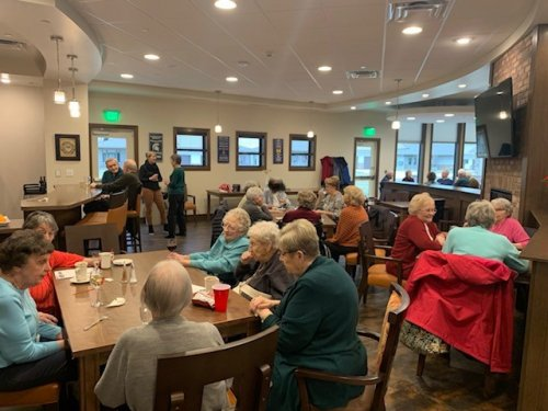 Happy Hour is just getting started. This is a great time for our residents to get together and socialize.