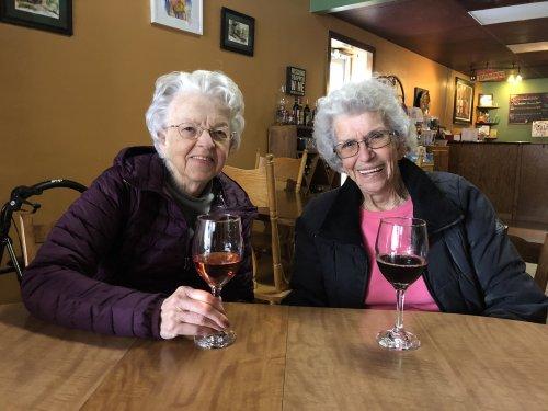 Janice and Doris enjoying the winery