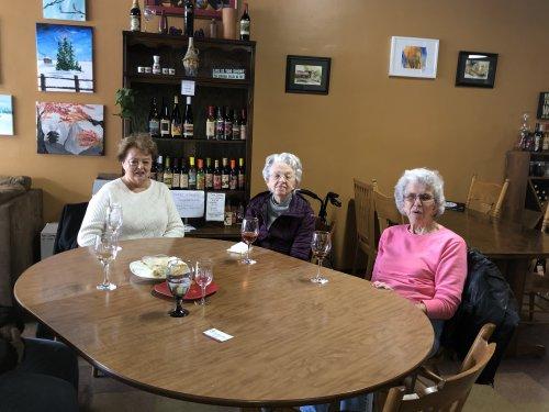 Diann, Janice and Doris love the local winery