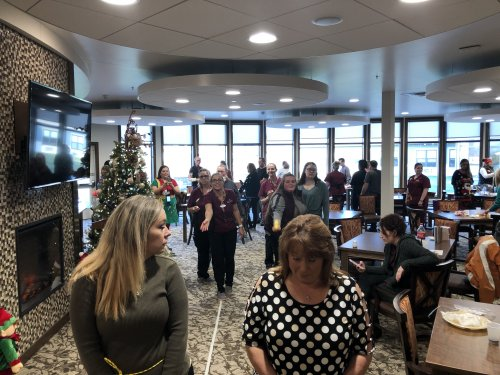 Every month we have a staff meeting to cover very important matters.  But, from time to time we need to just have some fun and that is what today was all about.  Celebrating our staff.  We could not do what we do without all of these people.  Merry Christmas from Primrose Midland!