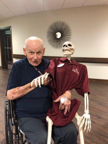 Walter and his friend Bones!