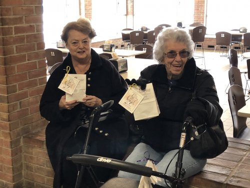 Diane and Doris are all set to had out there goody Bags