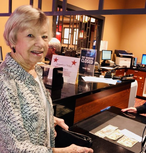 Mary is our Biggest winner today cashing it in.