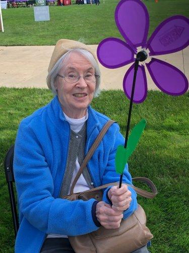 Millie at the Alzheimer walk