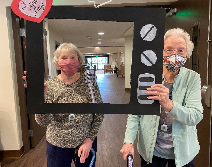 Ann and Marily  having fun