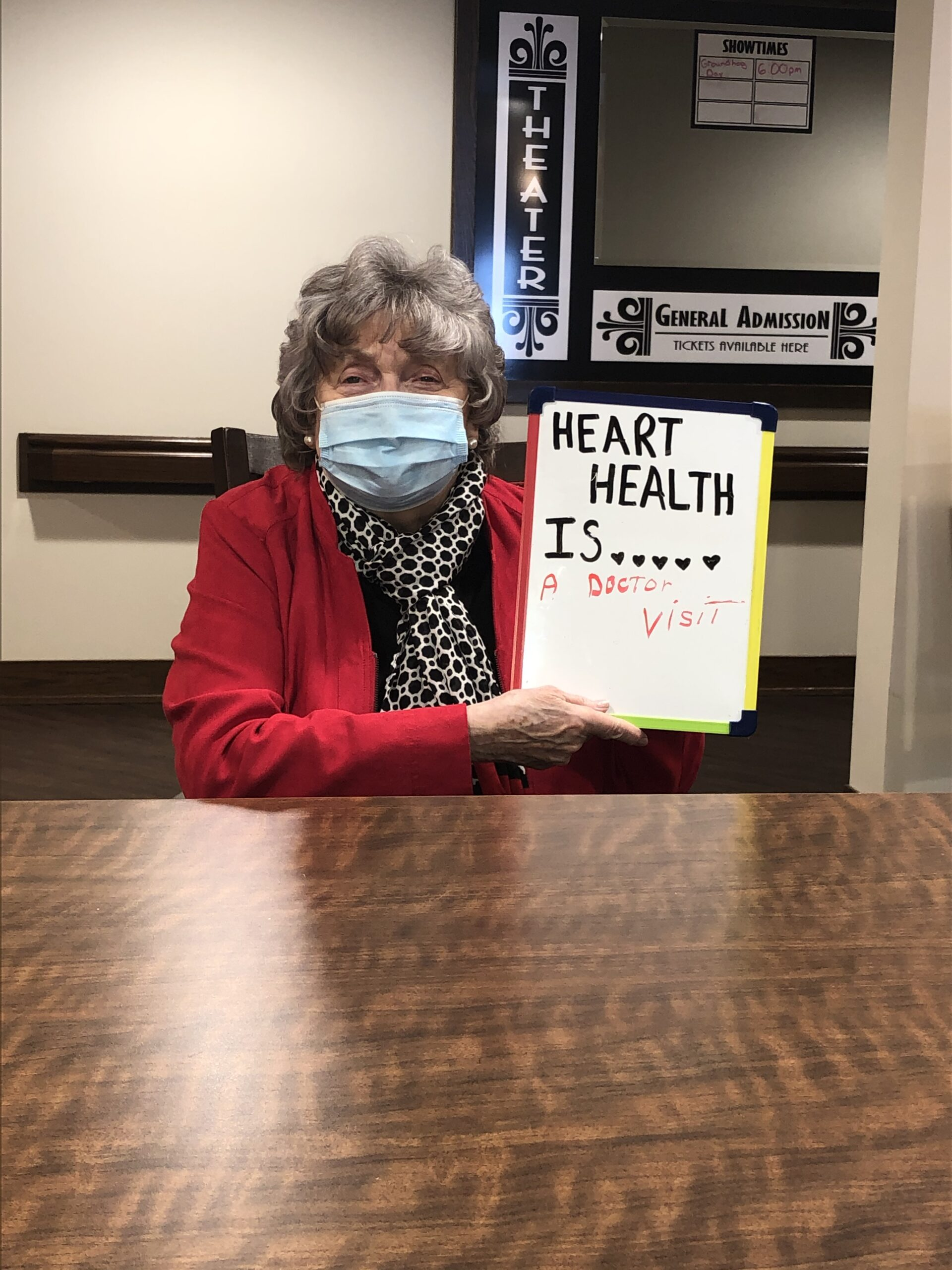 Darleensays  going to the doctor is Heart Health  to her