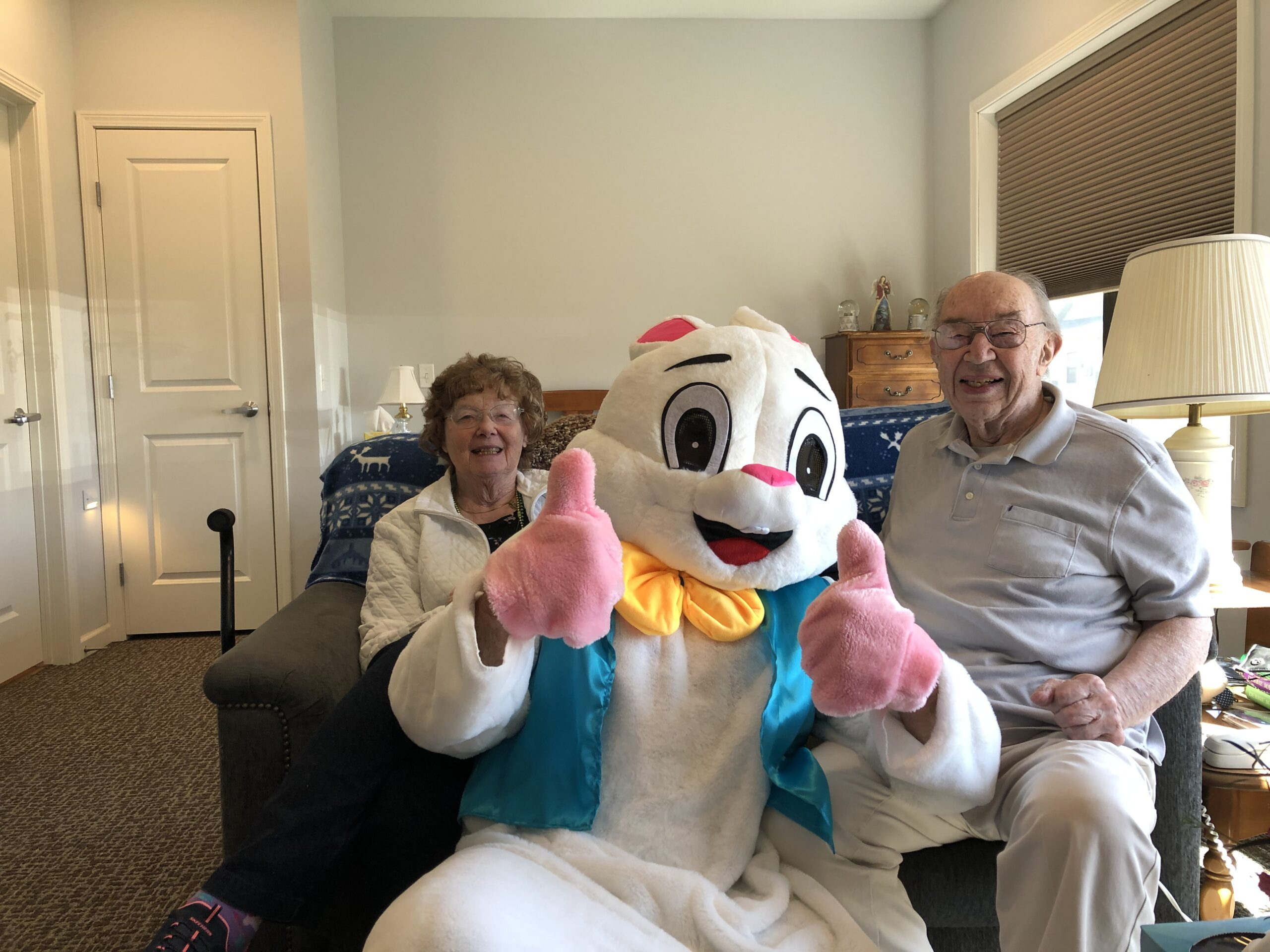 Easter  Bunny with Ed and Rosalie