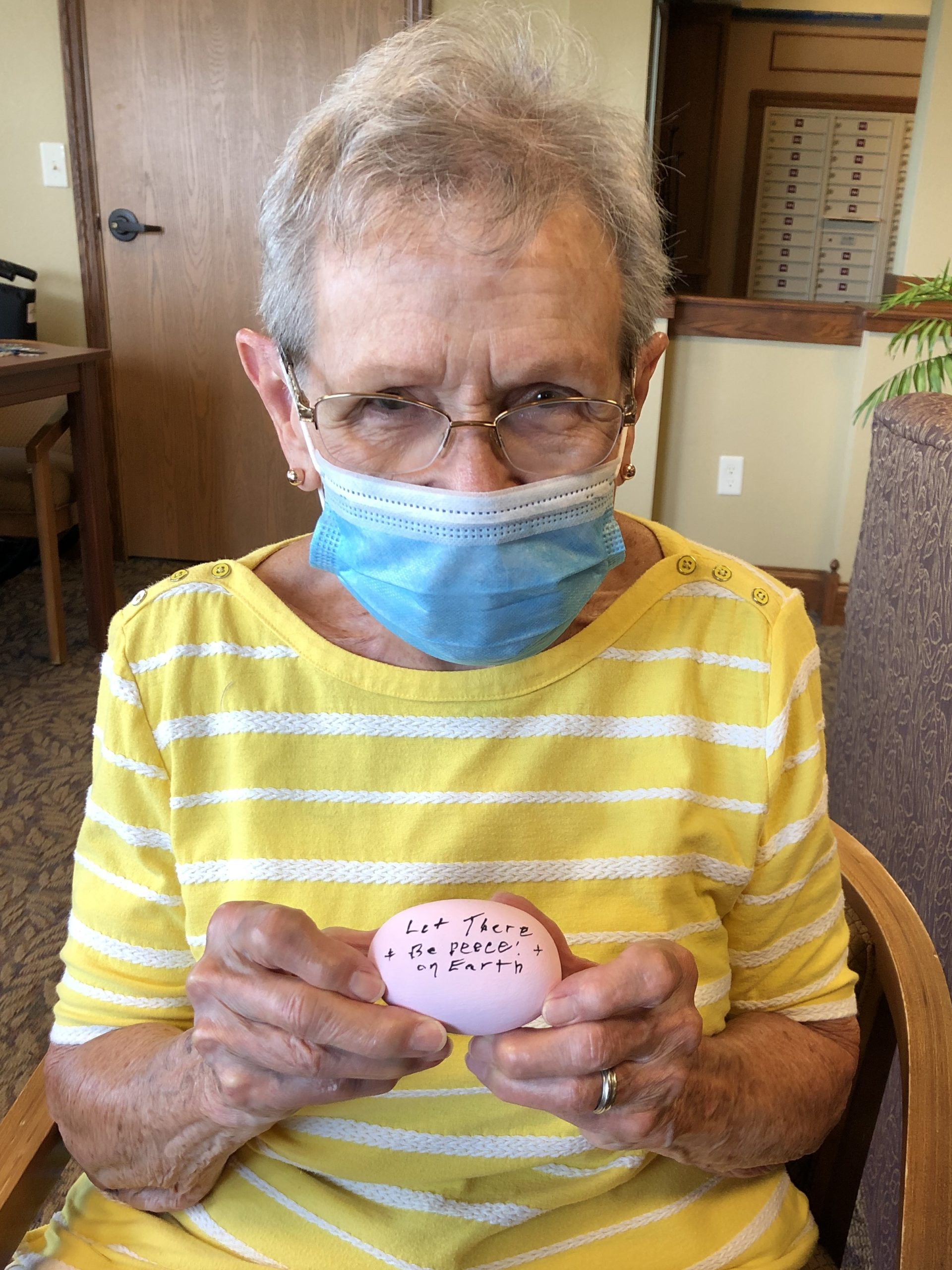 Mary painted a beautiful rock for our Kindness Project.
