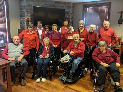 Celebrating National Wear Red Day to raise awareness about cardiovascular disease.