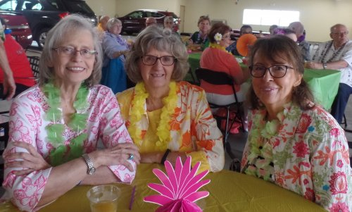 Thanks Ruth for inviting your friends to our Luau.