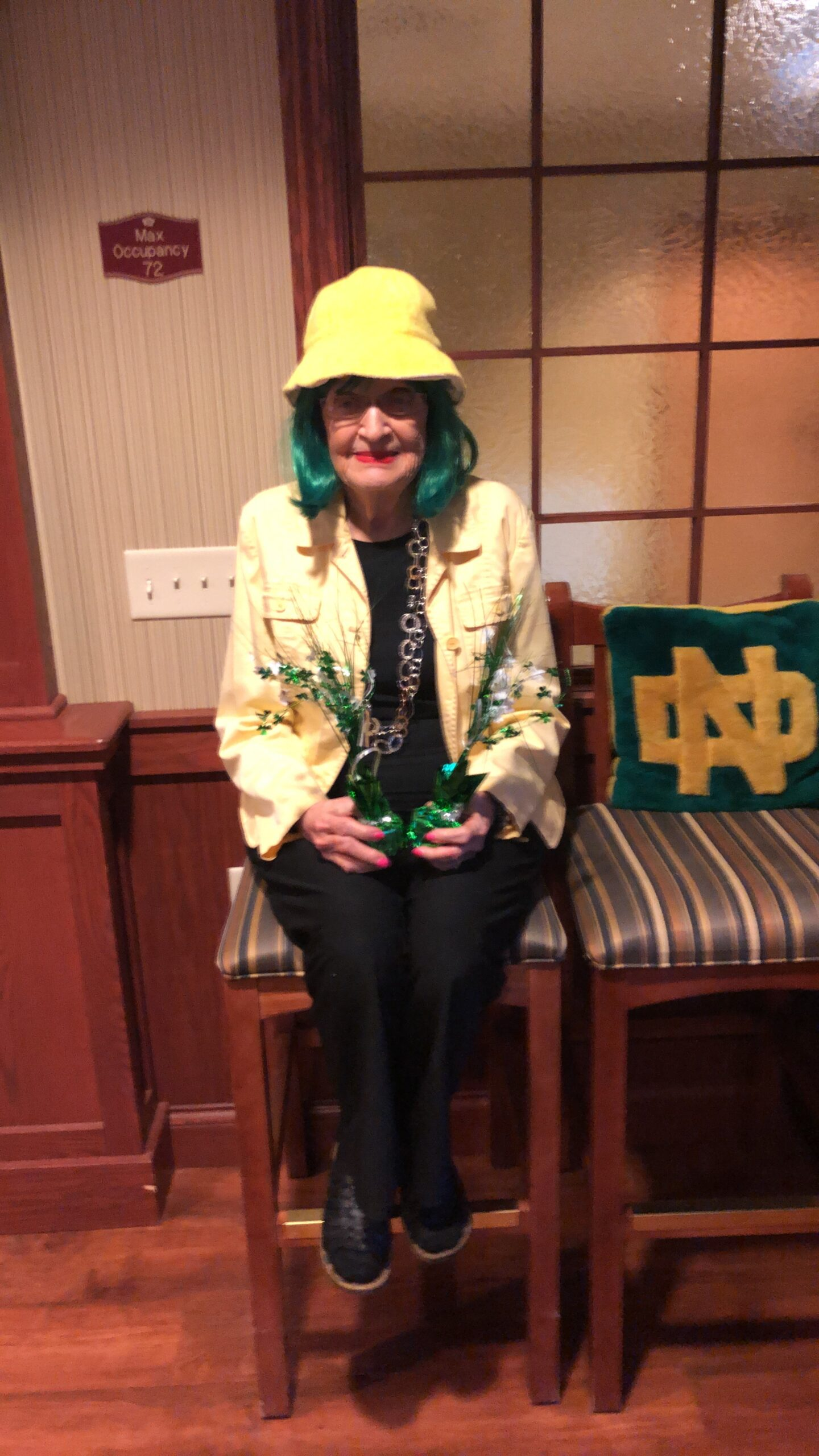 Check out our friend Connie K. who's all ready for Saint Patrick's Day!