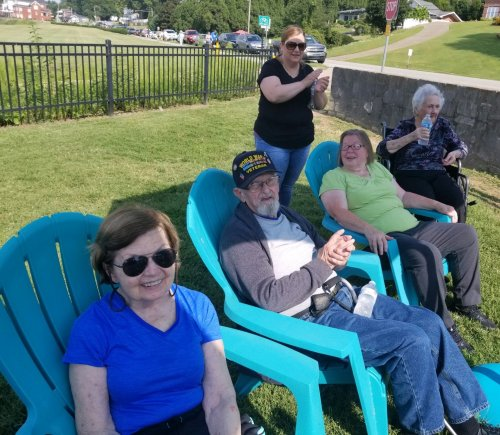 Resident's and volunteers enjoyed themselves listening to music at the Newburgh Farmer's Market.
