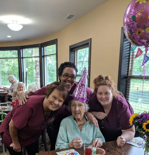 Jean celebrates her 94th Birthday with us!