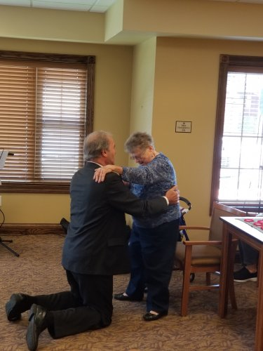 Our entertainers went above and beyond with our residents! Who doesn't enjoy a slow dance!?