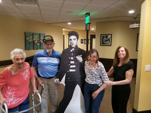 Residents show some love to Elvis during Elvis Week!