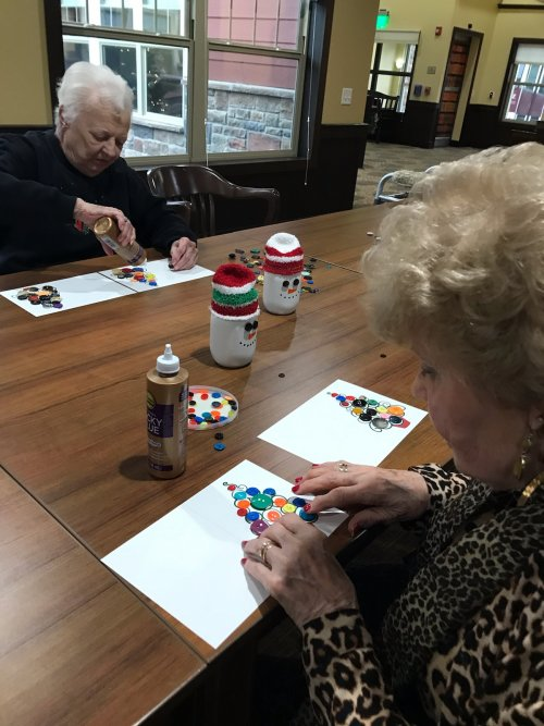 Resident's make Button Up greeting cards