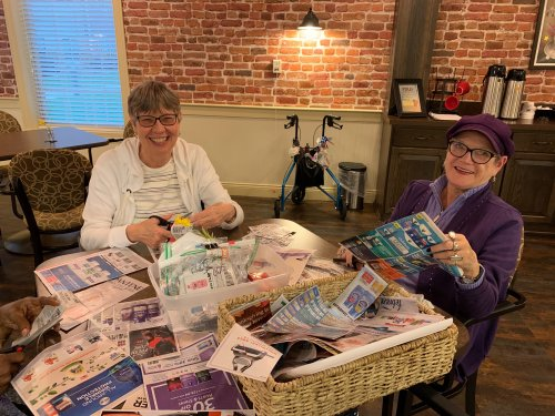 Lanita & Jean are just a couple of ladies that have been cutting out coupons for the troops! The group calls themselves the 'cut-ups'!
