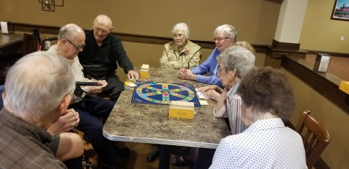Trivial Pursuit is a favorite in our community! Usually a Guys VS. Gals competition!
