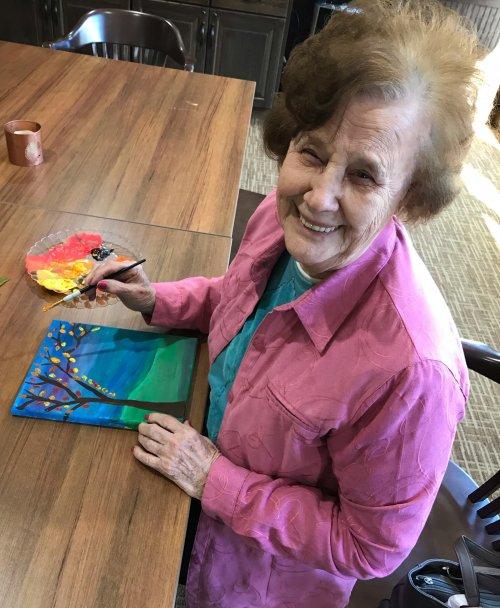 June Karner makes a beautiful fall painting