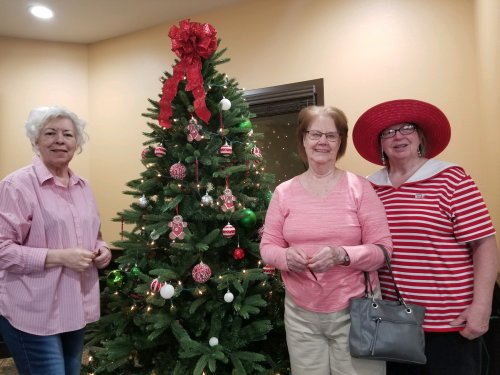 Residents enjoy putting up the Christmas tree