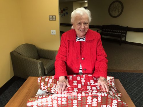 Tis the Season for Mary Alice to wrap gifts for our community.
