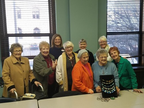The ladies delivering jewelry they made to the YWCA!