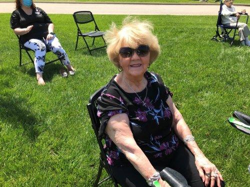 Carol Enjoying the Sunshine and Music