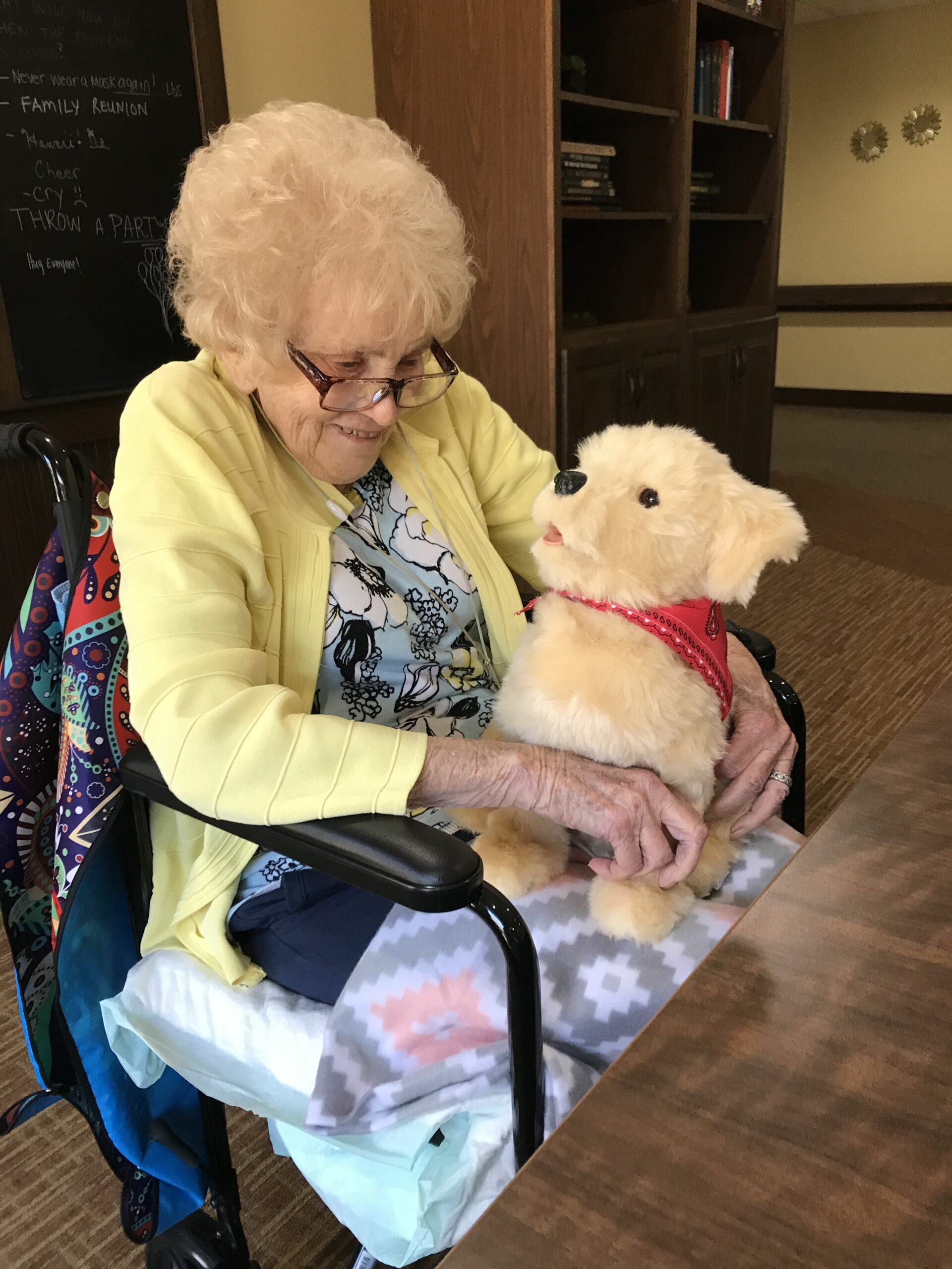 Cathy loves her new dog BINGO from Pet For Vets