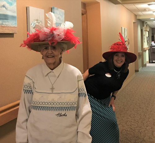 These ladies and their hats