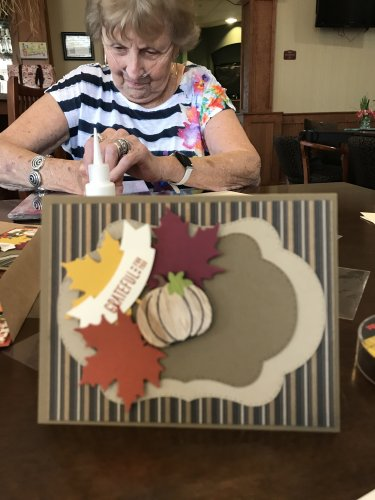 Making cards for the fall ' A Spark of creativity'
