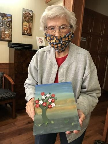 Evelyn ' Painting is getting easier'