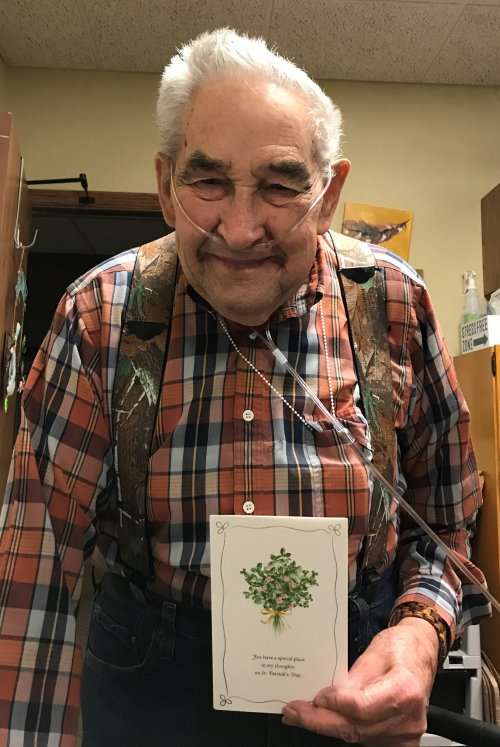 Receiving cards in the mail makes a Smile face!