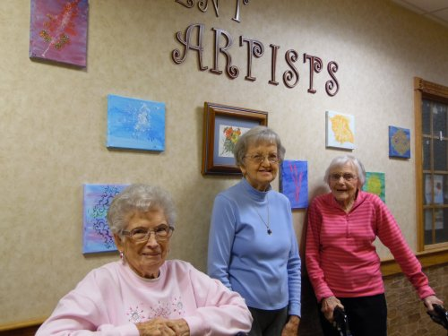 These ladies are part of our new up and coming 'artist' ready for out art show!