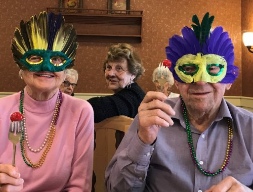 Today is Fat Tuesday and we have the King and Queen of the Kings Cake! Mary & Bob
