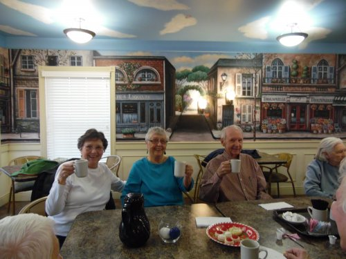 Coffee with friends is always a start to a good day. Judy- Cindy- Bill