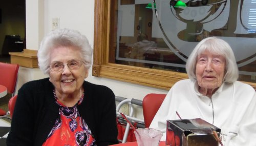 Friends are always the best topping with Ice Cream, right Phyllis and Barbara?