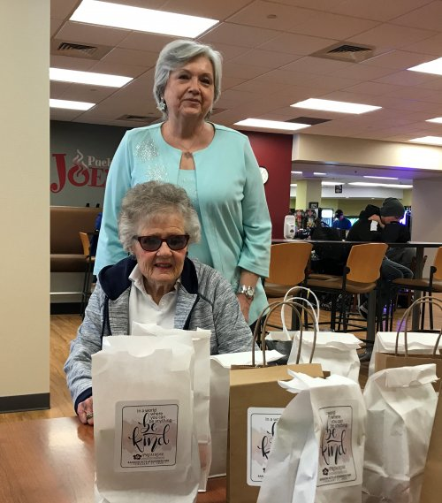 Lynne and Pat helped in today's Random Acts of Kindness at PCC