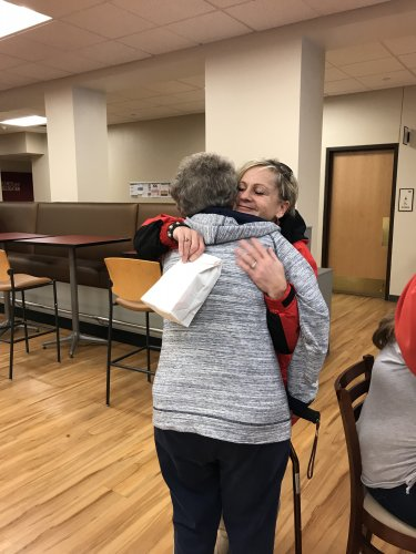 Hugs are always nice with Random Acts of Kindness in Pueblo